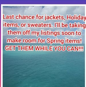 Last chance for winter and holiday items!!!
